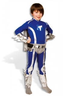 Toby™-Kostüm für Kinder Mega Mindy™ Lizenzkostüm blau-silber