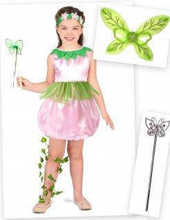 Feen-Kostüm-Set für Kinder 4-teilig bunt