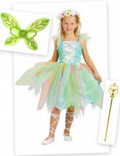 Feen-Kostümset für Kinder 4-teilig bunt