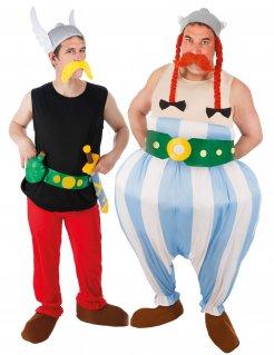 Asterix und Obelix-Paarkostüm für Herren Faschingskostüm bunt