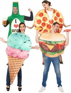 Fast Food-Gruppenkostüm Faschingskostüm bunt