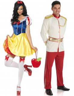 Prinzessin und Prinz Paarkostüm Faschingskostüm bunt