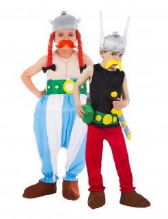 Asterix und Obelix Paarkostüm für Kinder Faschingskostüm bunt