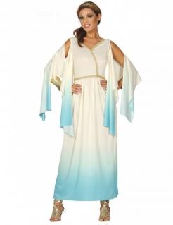 Griechische Göttin Damenkostüm weiss-blau