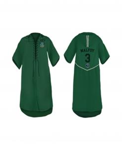 Slytherin-Tunika Quidditch-Tunika personalisierbar grün-schwarz-silber