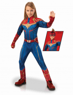 Captain Marvel™-Kostüm für Kinder blau-rot-gold