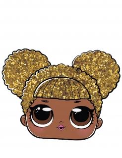 LOL Surprise™-Maske für Kinder Queen B goldfarben-braun-schwarz