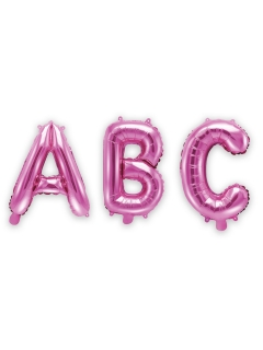 Buchstaben-Luftballon Folienballon pink 35 cm