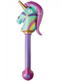 Rainbow Smash-Waffe aufblasbar Fortnite™ Accessoire lila-pink