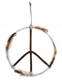 Metallanhänger Raumdekoration Peace-Zeichen 26 x 41 cm