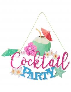 Party-Deko Cocktail Party Schild bunt 38,5 x 30 x 24 cm
