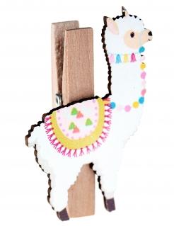 Lama-Wäscheklammern 4 Stück bunt 2,5x4,5cm