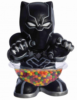 Black Panther™-Bonbonhalter Servierschüssel Partydeko schwarz 38 cm