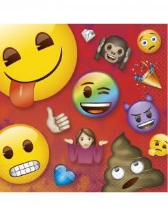 Emoji Rainbow™-Servietten Partydeko 16 Stück bunt 33x33cm