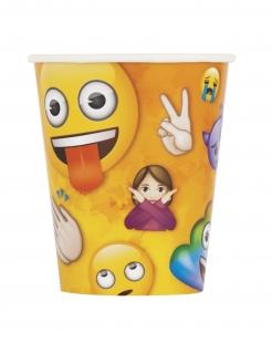 Emoji™ Pappbecher 8 Stück bunt 266 ml