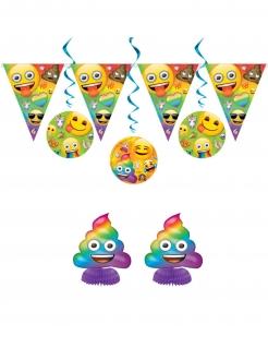 Emoji Rainbow™-Dekoset Partydeko 7-teilig bunt
