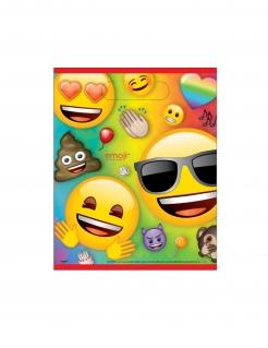 Emoji Rainbow™-Geschenktüten Partydeko 8 Stück bunt 22,5x17,5cm