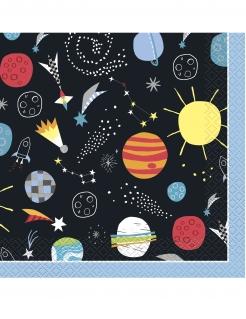 Universum-Servietten Tischdeko 16 Stück bunt 33x33cm
