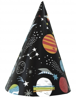 Universum-Partyhüte Partydeko 8 Stück bunt