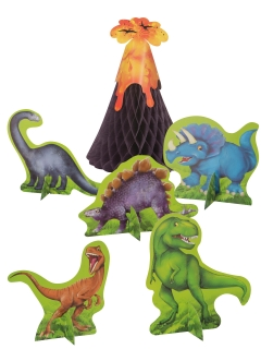 Dinosaurier-Tischdekorationen 6-teilig bunt