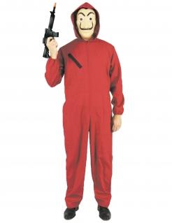 Bankräuber-Kostüm Unisex Faschingskostüm rot-schwarz