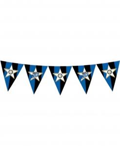 Inter Mailand™-Wimpelgirlande Partydeko schwarz-blau-weiss 365 cm