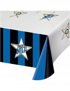 Inter Mailand™-Tischdecke Partydeko blau-weiss-schwarz 120x180 cm