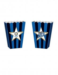 Inter Mailand™-Popcorntüten Fussball-Deko 4 Stück blau-schwarz 13,5x8,5x19cm