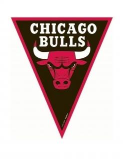 Chicago Bulls™-Girlande schwarz-rot-weiss 3,6m