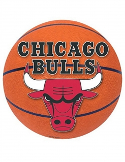 Chicago Bulls™ Dekoration aus Pappkarton bunt 30 cm