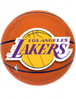 Los Angeles Lakers™-Teller Basketball-Pappteller NBA 8 Stück orange 18cm