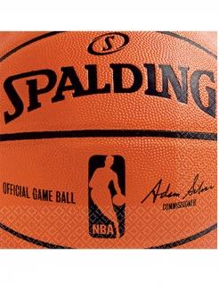 NBA Spalding™ Papierservietten 36 Stück orange-schwarz 25 x 25 cm