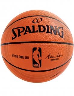 NBA Spalding™-Pappteller 18 Stück orange-schwarz 18 cm