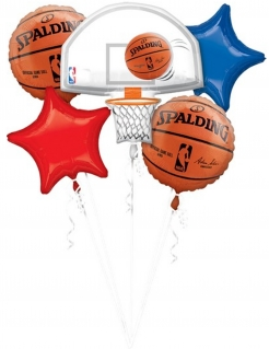 Luftballon-Bouquet Basketball NBA Spalding™ Deko bunt