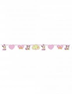 Minnie Maus™-Girlande für Babys Deko rosa 150x13cm
