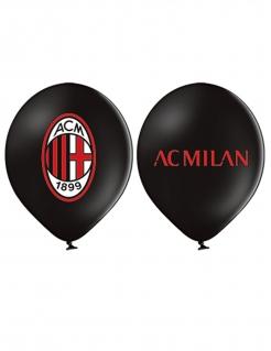 AC Mailand™-Luftballons Partydeko 12 Stück schwarz-rot 30 cm