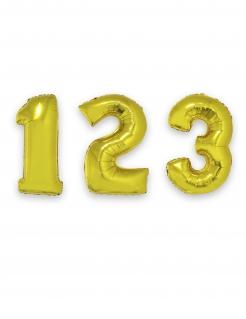 Zahlen-Luftballon Ziffern-Ballon für Geburtstage gold 1 m