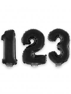 Zahlen-Luftballon Ziffern-Ballon für Geburtstage schwarz 1 m