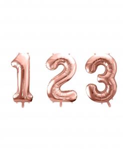 Zahlen-Luftballon Ziffern-Ballon für Geburtstage rosa 86 cm