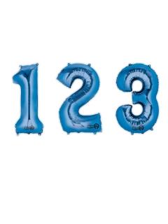 Zahlen-Luftballon Ziffern-Ballon für Geburtstage blau 88 cm
