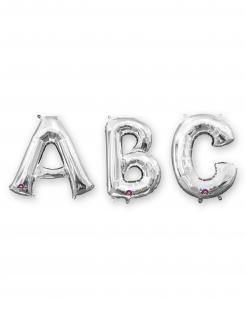 Buchstaben-Luftballon Folienballon silber 33 cm