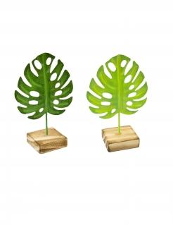 Tropen-Tischdeko Partydeko 1 Stück grün-braun 15 cm