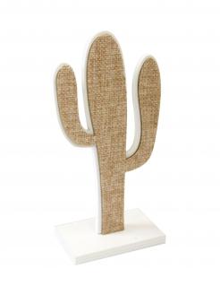 Kaktus-Tischdekoration beige 15 cm