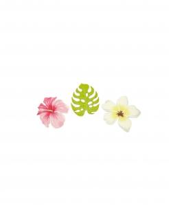 Konfetti Tischkonfetti Blüten Blumen Tropen 9 Stück bunt 3,8 cm