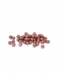 Deko-Kügelchen 10 g rot-gold 8 mm