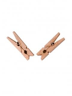 Wäscheklammern aus Holz 25 Stück braun 6x3cm