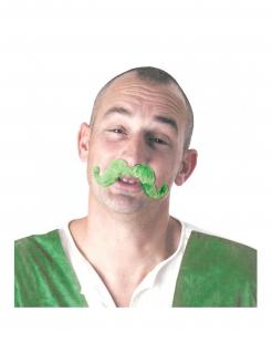 Schnurrbart Schnauzbart für Erwachsene St. Patrick´s Day Grün