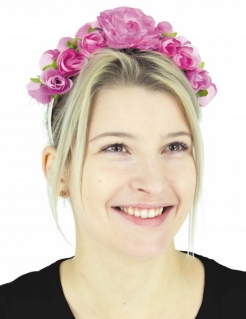 Blumenkranz Haarband Rosen Accessoire rosa