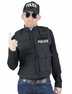 Polizei-Weste Kostümaccessoire schwarz-weiss