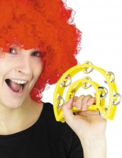 Tambourin Musikinstrument Accessoire gelb 40cm
